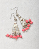 Earrings Triangle with Beads