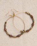 Hoop Earrings with upcycled ammunition