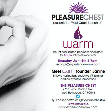 WARM hosts a launch tour at Pleasure Chest stores nationwide!