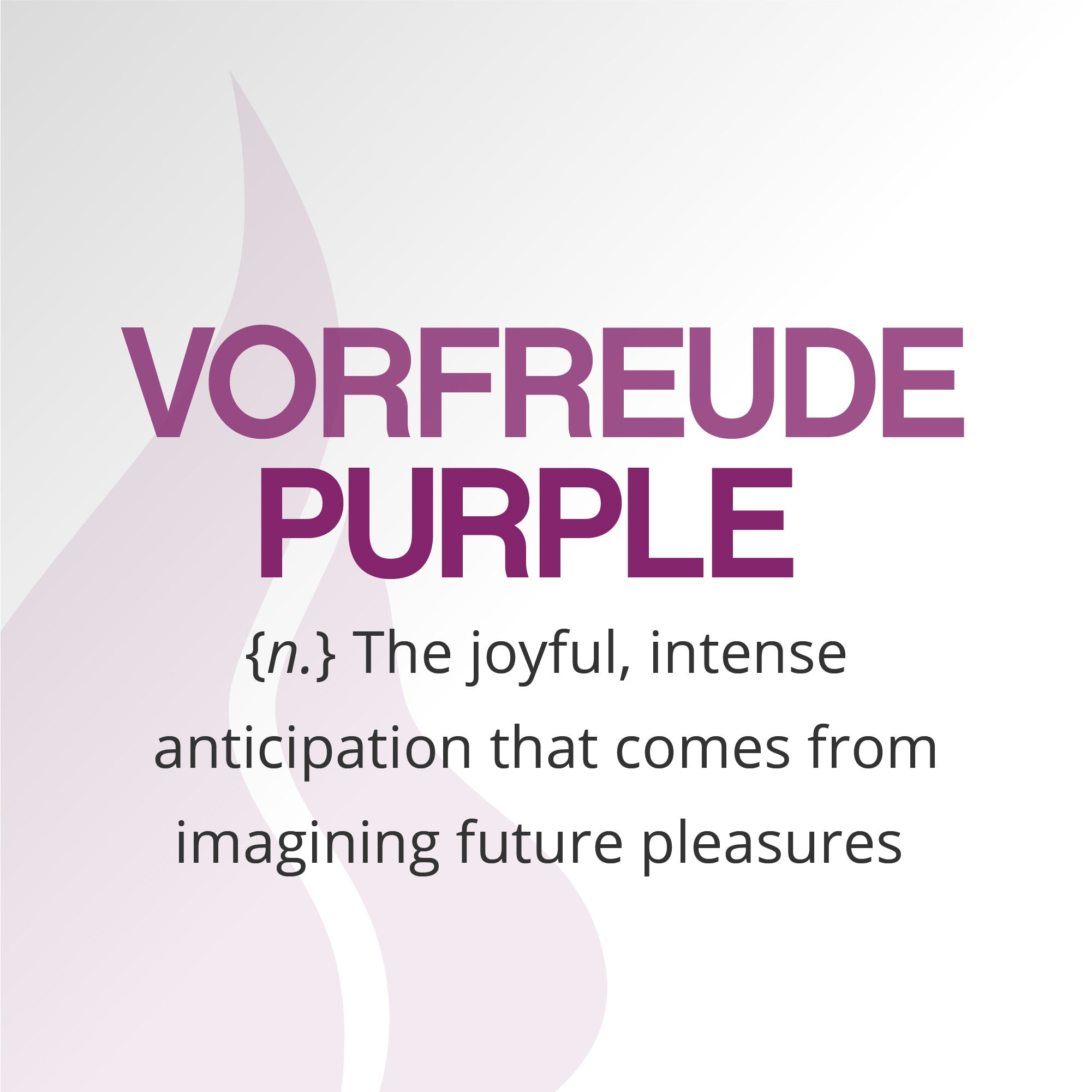The making of WARM's signature color, Vorfreude Purple