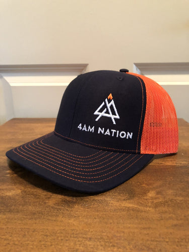 BLACK AND NEON ORANGE - WHITE LOGO ORANGE TIP
