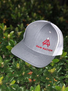 HEATHER GREY AND WHITE - RED LOGO WHITE TIP