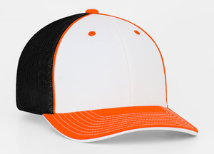 WHITE ORANGE AND BLACK