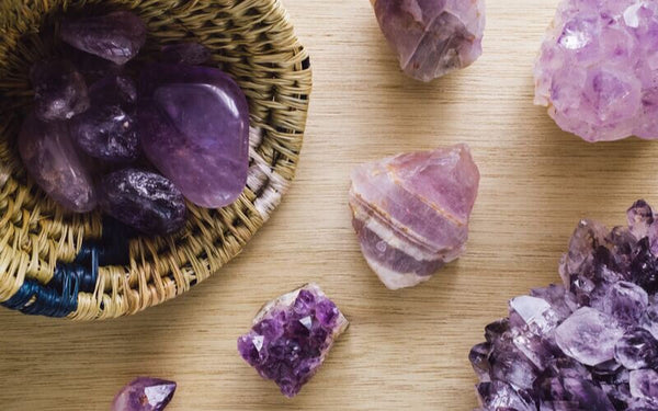 Amethyst Crystal for Skin Healing