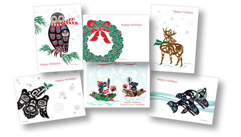 Shotridge Northwest Native Holiday Art Card Set