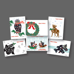 Northwest Native Holiday Collection Themed Art Cards