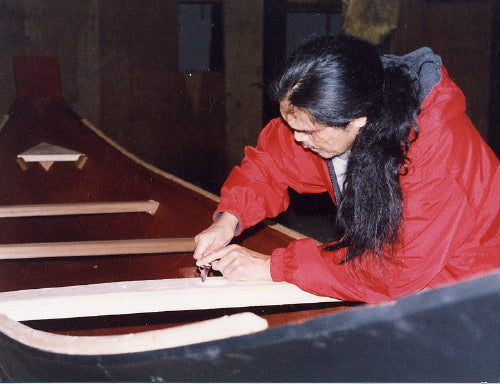 Israel Shotridge Carving a Canoe