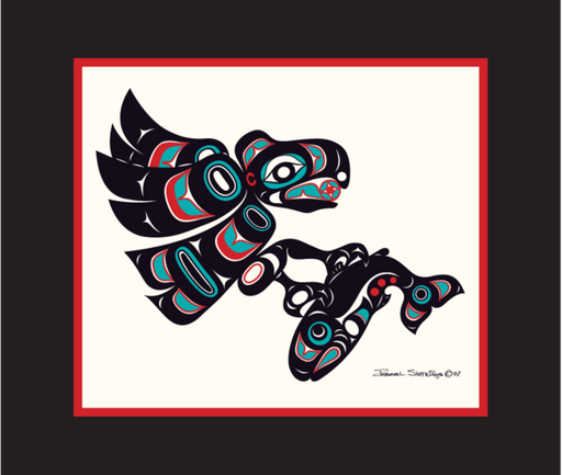 """Eagle & Salmon"" Open Edition Art Print - Shotridge.com"