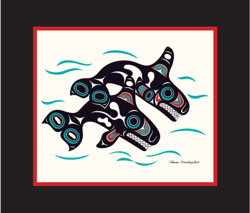 """Orcas"" Open Edition Art Print - The Shotridge Collection"