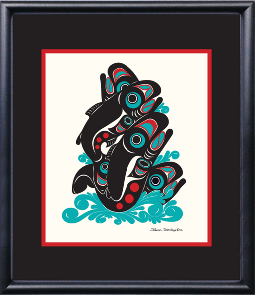 """Salmon"" Open Edition Art Print - Shotridge.com"