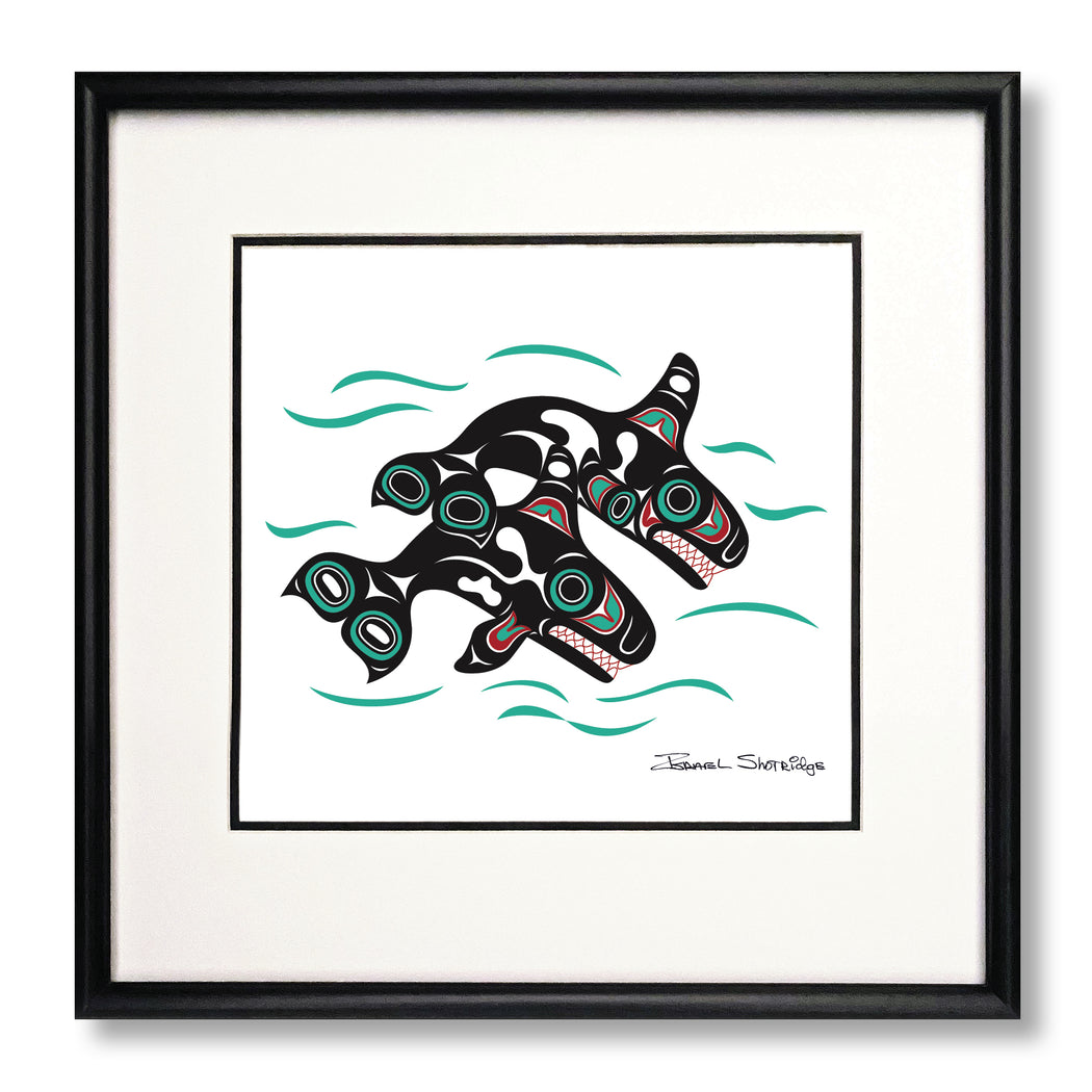 """Orcas"" Limited Edition Art Print"