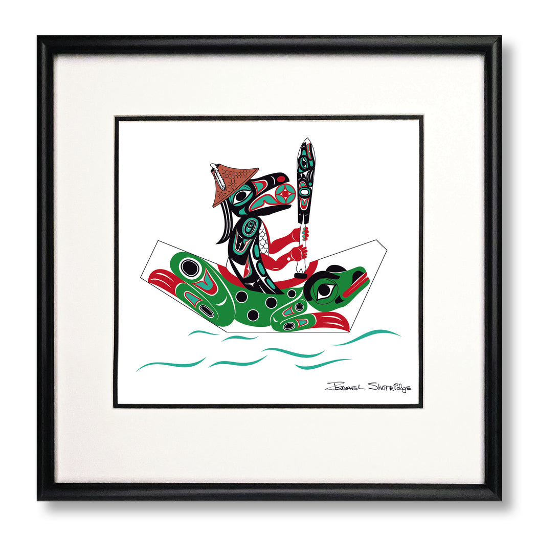"""Raven & Frog Canoe"" Limited Edition Art Print"