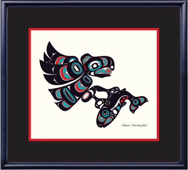 """Eagle & Salmon"" Open Edition Art Print - The Shotridge Collection"