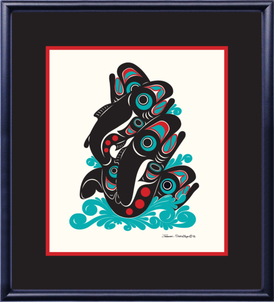 """Salmon"" Open Edition Art Print - The Shotridge Collection"