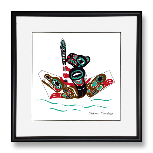 """Eagle & Bear Canoe"" Limited Edition Art Print - Shotridge.com"