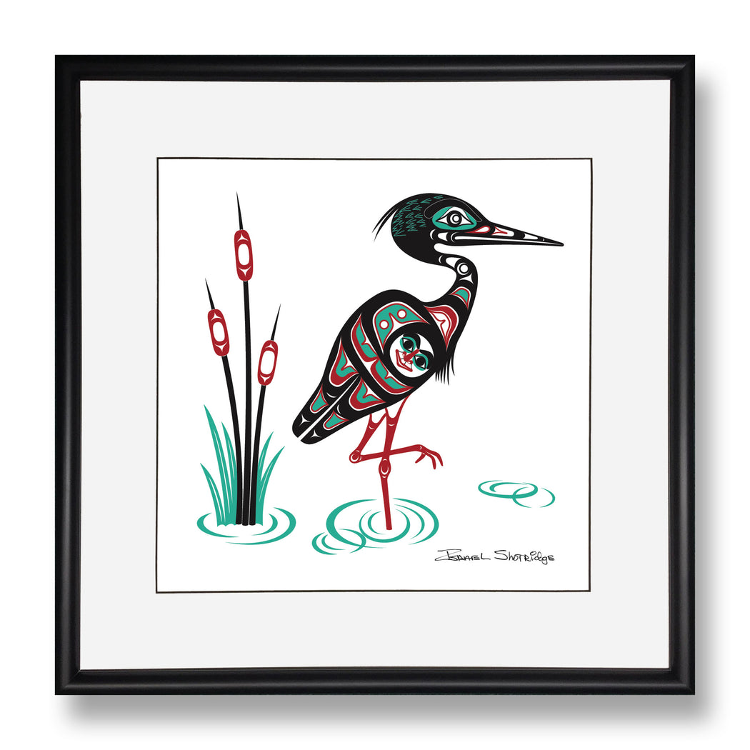 """Heron"" Limited Edition Art Print - The Shotridge Collection"