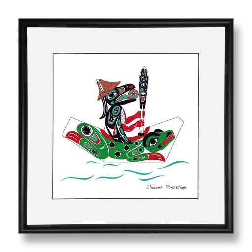 """Raven & Frog Canoe"" Limited Edition Art Print - Shotridge.com"