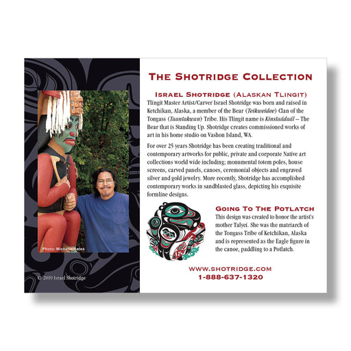 """Going To The Potlatch"" Hand Signed Framed Giclée Art Print - The Shotridge Collection"