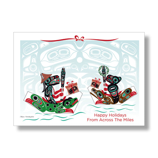 """Across The Miles"" Holiday Art Card - Shotridge.com"