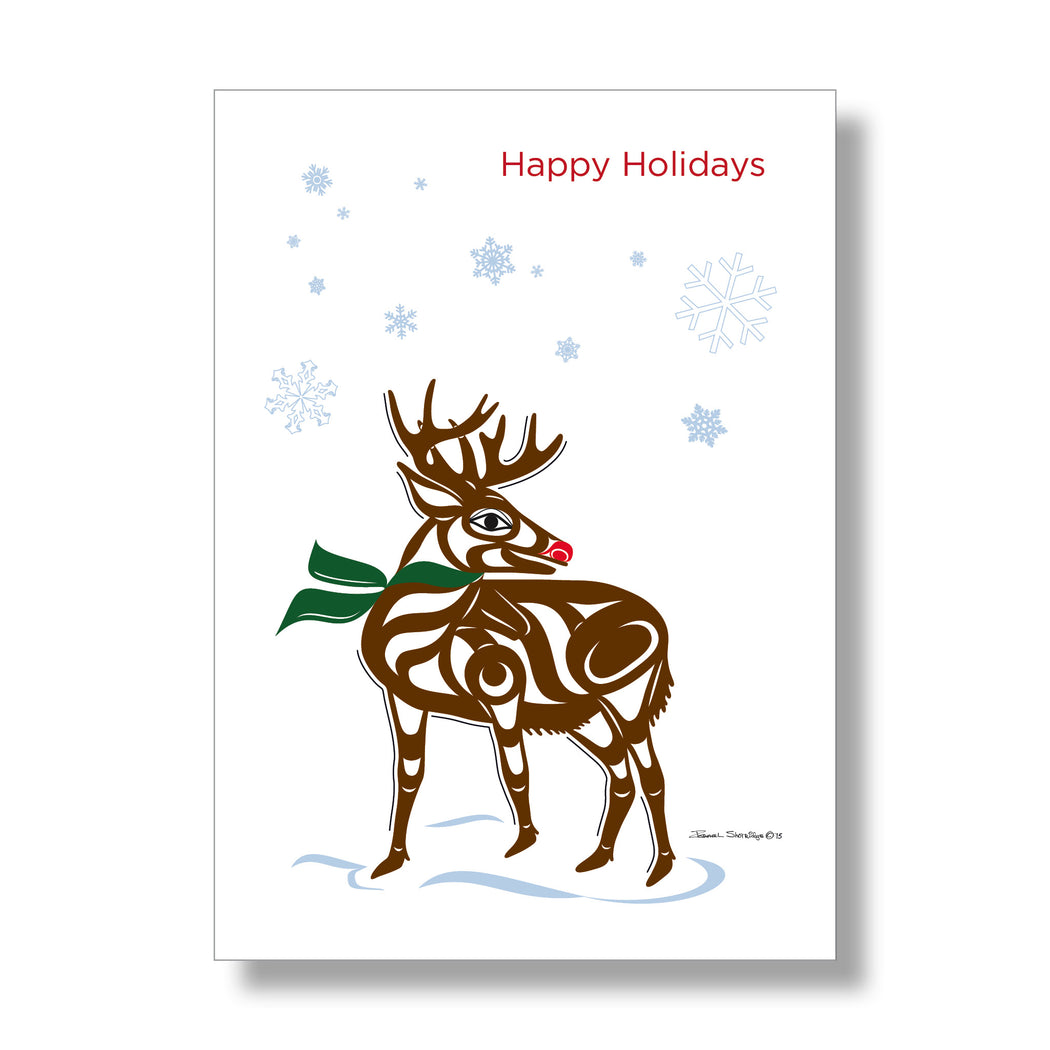 """Reindeer"" Holiday Art Card Set - The Shotridge Collection"