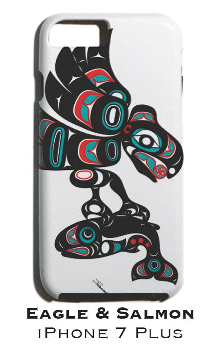 Eagle & Salmon Apple iPhone Case 7+/8+ - The Shotridge Collection