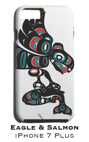 Eagle & Salmon Apple iPhone Case 7+