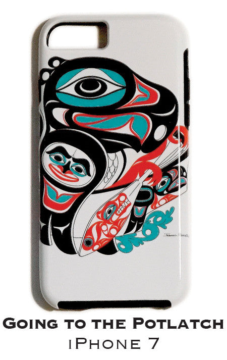 Going To The Potlatch Apple iPhone Case 7/8 - The Shotridge Collection
