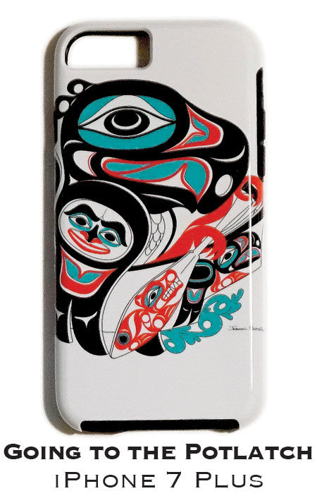Going To The Potlatch Apple iPhone Case 7+/8+ - The Shotridge Collection