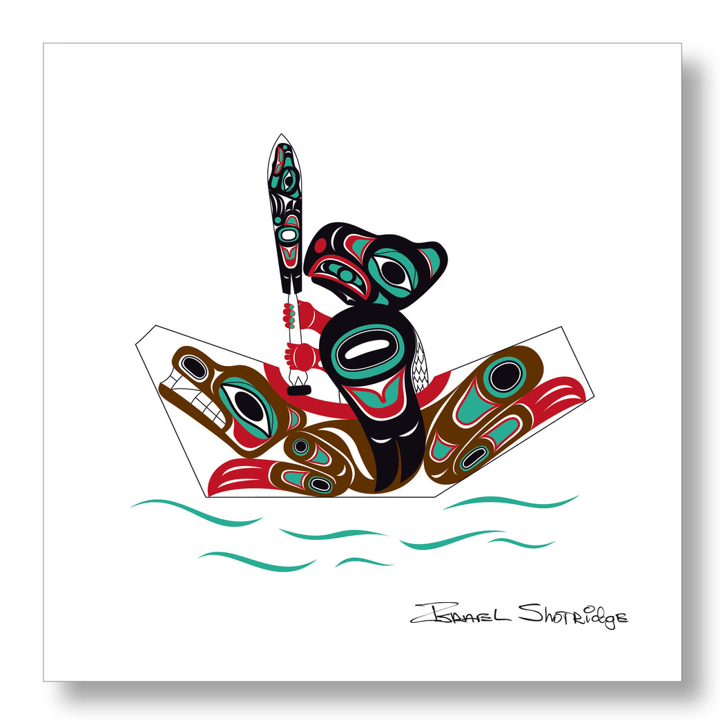 """Eagle & Bear Canoe"" Limited Edition Art Print - The Shotridge Collection"