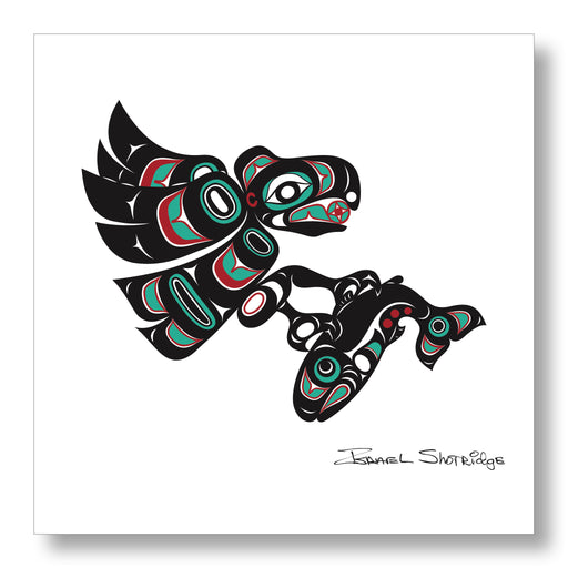 """Eagle & Salmon"" Limited Edition Art Print - Shotridge.com"