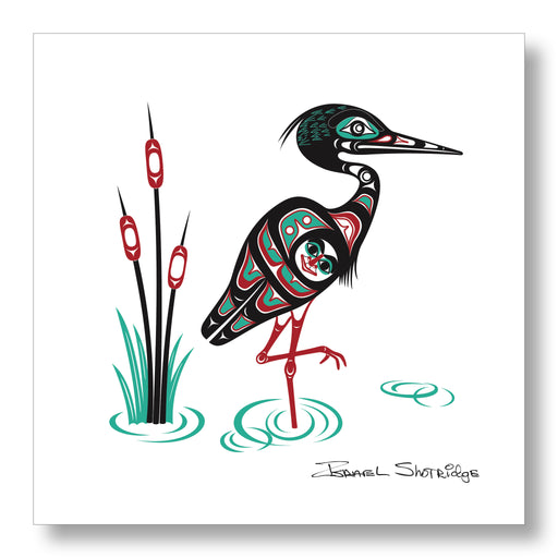 """Heron"" Limited Edition Art Print - Shotridge.com"