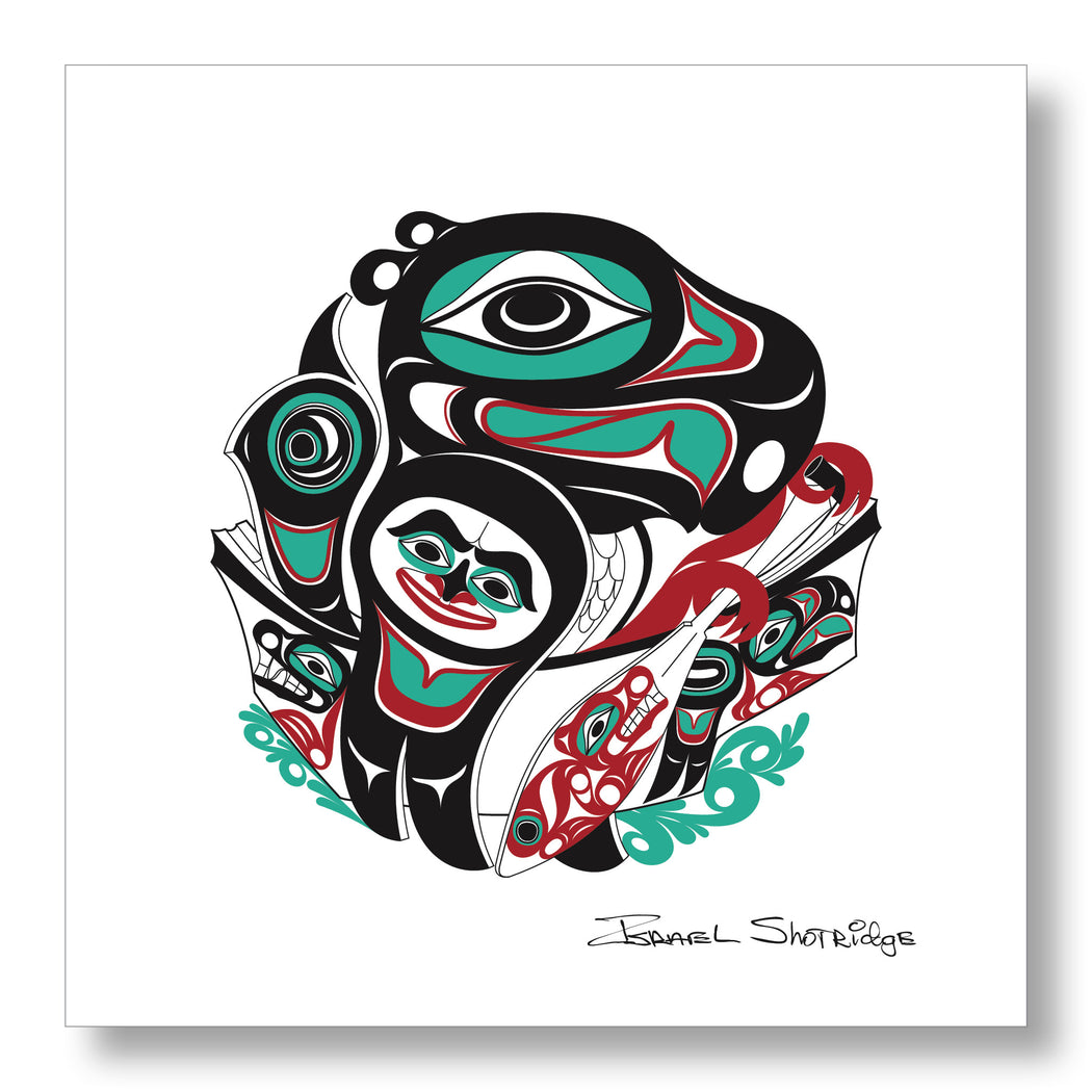 """Going To The Potlatch"" Limited Edition Art Print - The Shotridge Collection"