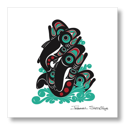 """Salmon"" Limited Edition Art Print - The Shotridge Collection"