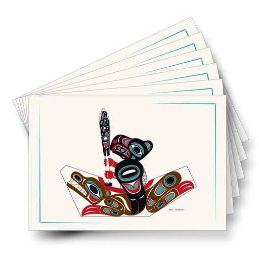 """Eagle & Bear Canoe"" Art Card - The Shotridge Collection"