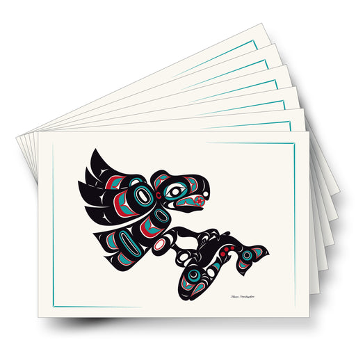 """Eagle & Salmon"" Art Card - Shotridge.com"