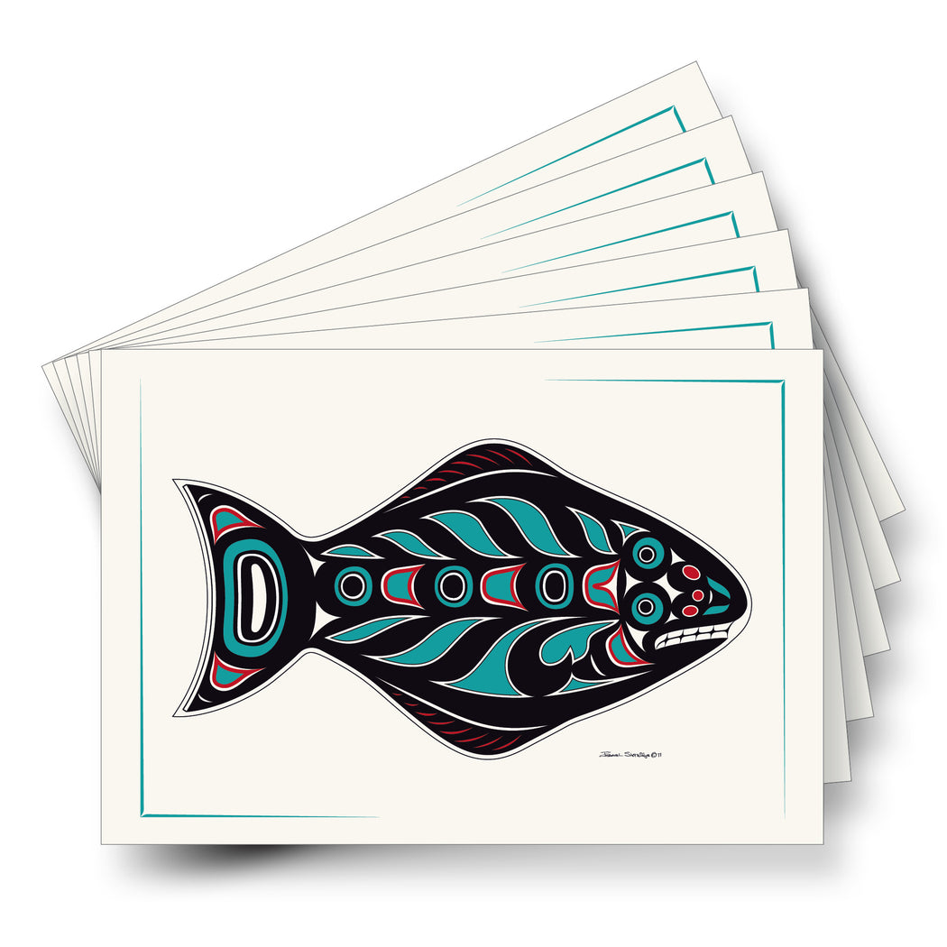 """Halibut"" Art Card - The Shotridge Collection"