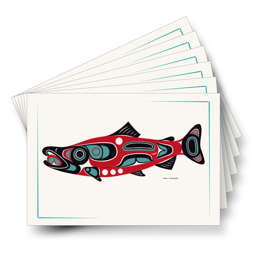 """Northwest Salmon"" Art Cards - Shotridge.com"