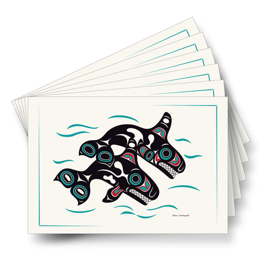 """Orcas"" Art Cards - The Shotridge Collection"