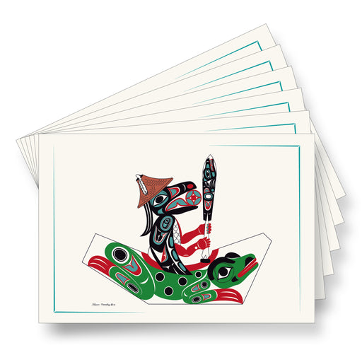 """Raven & Frog Canoe"" Art Cards - Shotridge.com"