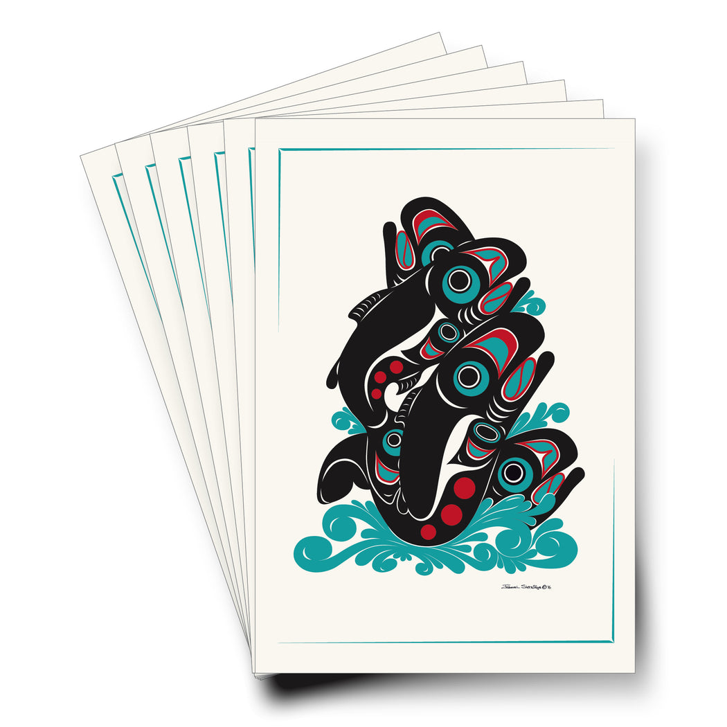 """Salmon"" Art Cards - The Shotridge Collection"