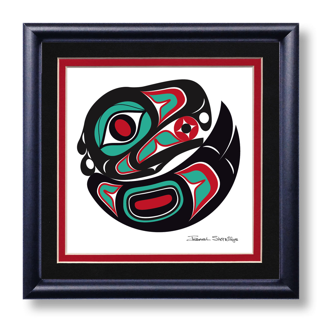 """Eagle"" Hand Signed Framed Giclée Art Print - The Shotridge Collection"