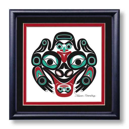"""Frog"" Hand Signed Framed Giclée Art Print - The Shotridge Collection"