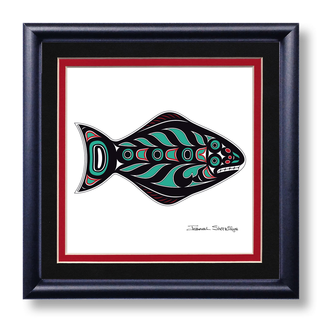 """Halibut"" Hand SIgned Framed Giclée Art Print - The Shotridge Collection"