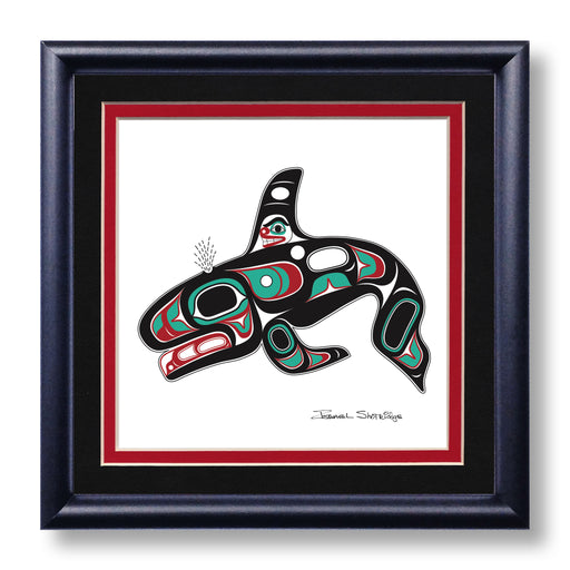 """Killer Whale"" Hand Signed Framed Giclée Art Print - The Shotridge Collection"