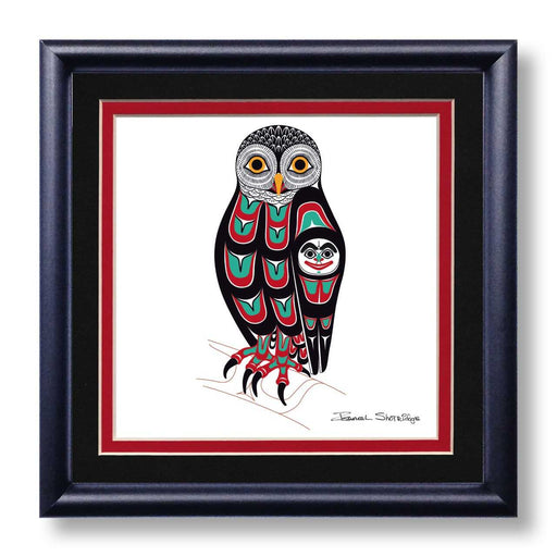 """Owl"" Hand Signed Framed Giclée Art Print - The Shotridge Collection"