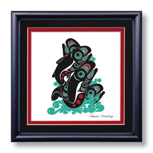 """Salmon"" Hand Signed Framed Giclée Art Print - Shotridge.com"