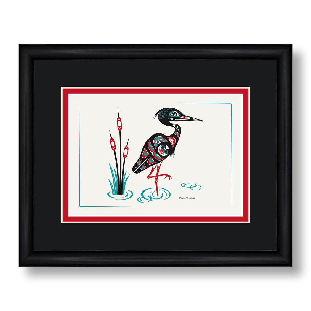 """Heron"" Art Card - Shotridge.com"