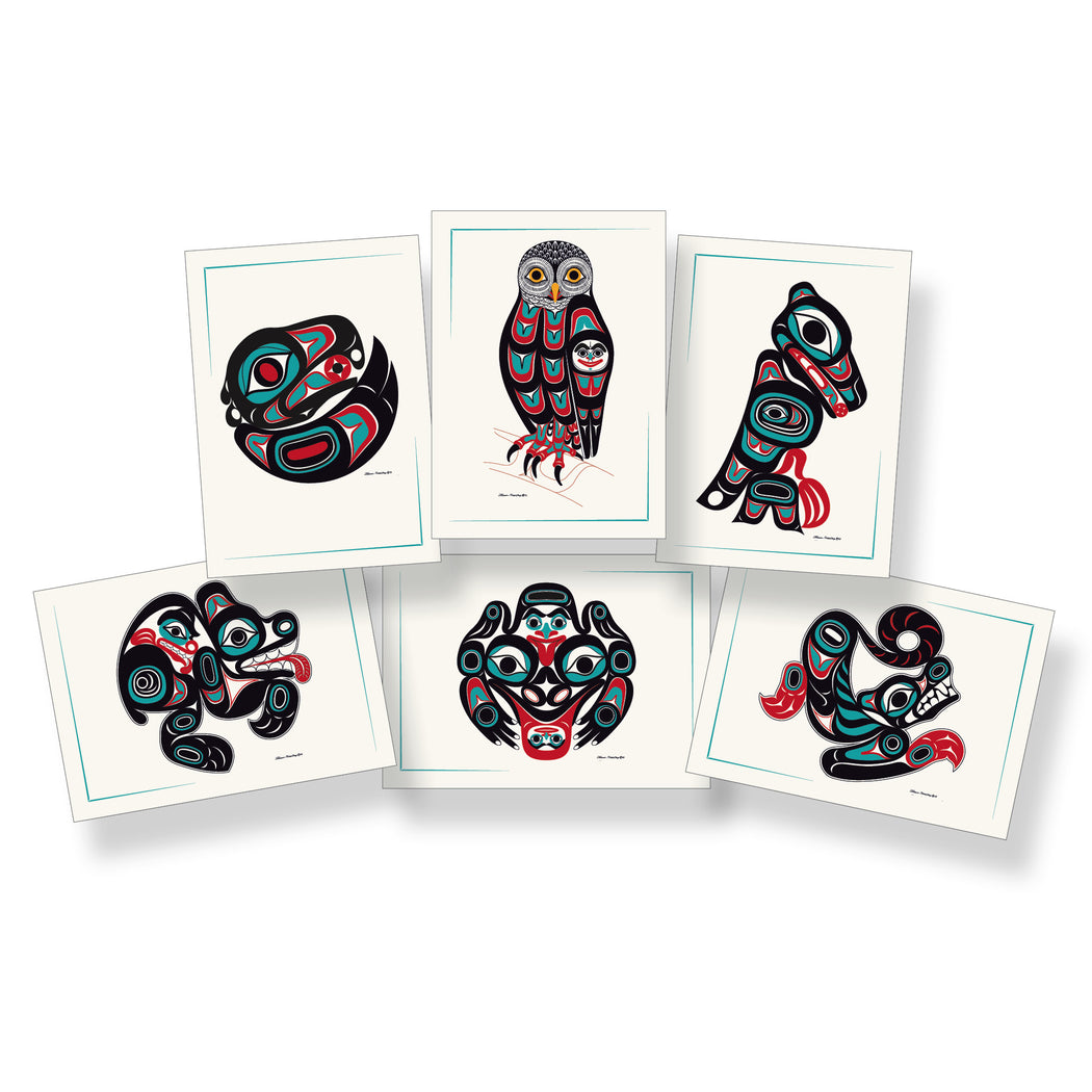 """Northwest Forest Friends"" Art Card Set - Shotridge.com"