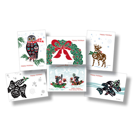 """Northwest Native Holiday"" Art Card Set - Shotridge.com"