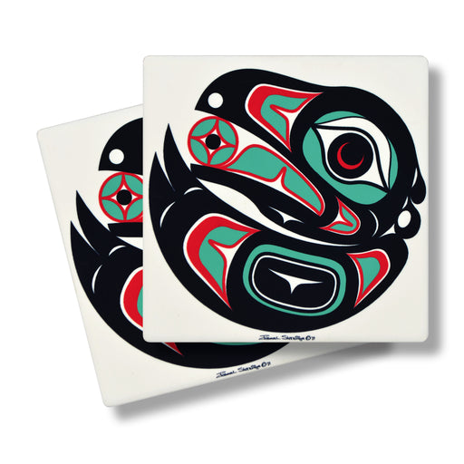 """Raven 2"" Sandstone Coasters - The Shotridge Collection"